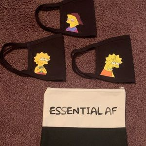 Lisa Simpson 3 Pack Adult Face Mask